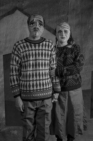 Edison Oliver Vera Alcivar y Angela Rebeca Rafaela Robles Huacón de Vera (La Casa de la Finca) by Edison Peñafiel contemporary artwork