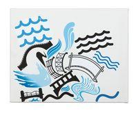 Work No. 2971Bridges under water by Martin Creed contemporary artwork mixed media