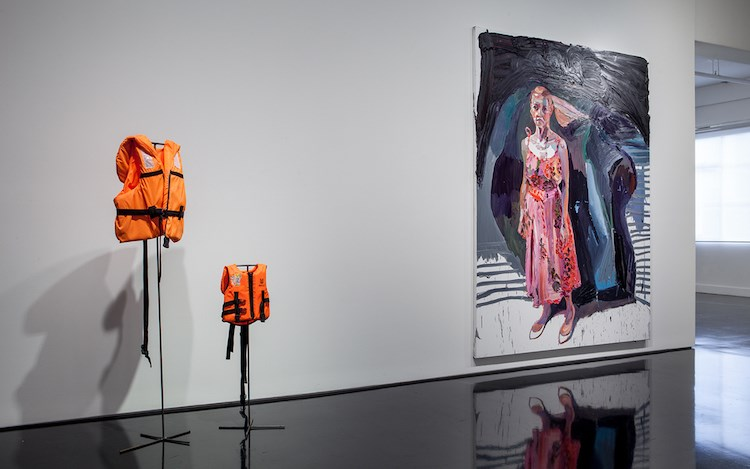 Ben Quilty, The Stain, 2016. Exhibition view, Tolarno Galleries, Melbourne. Courtesy the artist and Tolarno Galleries.