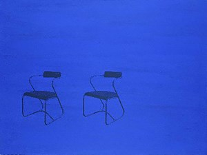 Modern Chairs by David Diao contemporary artwork
