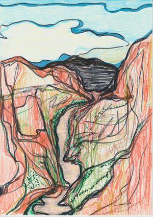 Desert Landscape by Liv Fontaine contemporary artwork