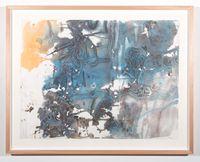 Monsoon rainforest flora by John Wolseley contemporary artwork painting
