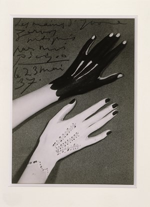 Hands of Yvonne Zervos painted by Pablo Picasso by Man Ray contemporary artwork