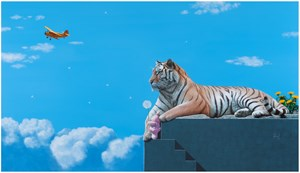 Dream (tiger & rabbit) by Song Hyeong Noh contemporary artwork