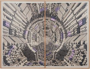 Corredor 17 (diptych) by Dagoberto Rodríguez contemporary artwork