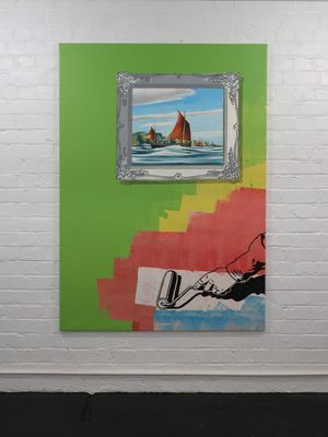 Painting Wall by Ian Scott contemporary artwork