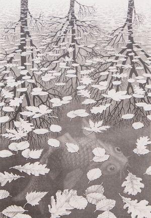 Three Worlds by M.C. Escher contemporary artwork print