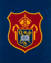 Diocesan Boys' School Crest by David Diao contemporary artwork mixed media