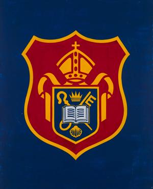 Diocesan Boys' School Crest by David Diao contemporary artwork