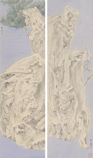 Elegant Offering Series No. 3 and No. 4 by Luo Ying contemporary artwork