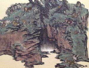 Stranger than paradise - Red Grotto by Yang Jiechang contemporary artwork