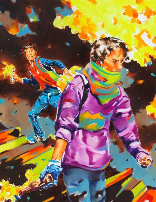 Desmatrix by Norbert Bisky contemporary artwork