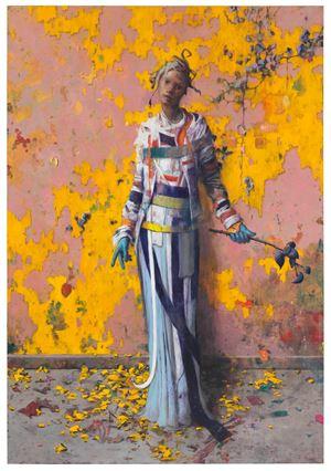 Glutschicht by Jonas Burgert contemporary artwork