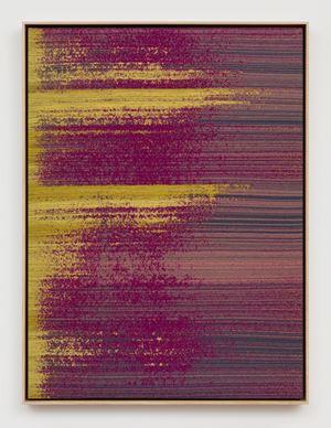 Negative Entropy (Digital Ocean, NYC3, Server Rack Installation Technicians, Two-Tone Magenta, Single) by Mika Tajima contemporary artwork