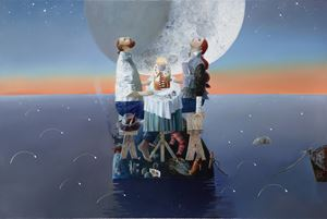Birthday together by Anna Berezovskaya contemporary artwork