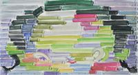 Rainbow by Etsu Egami contemporary artwork painting, works on paper