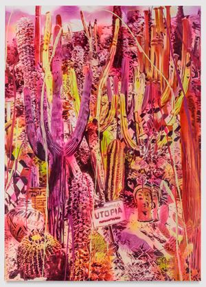 Day-Glo Camelot by Rosson Crow contemporary artwork