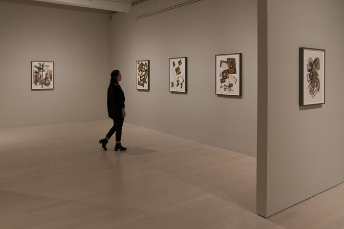 Exhibition view: Irving Penn, Paintings, Pace Gallery, 32 East 57th Street, New York (13 September–13 October 2018). © The Irving Penn Foundation. Courtesy Pace Gallery.
