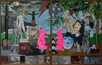 Nature of Currency (diptych) by Kawayan de Guia contemporary artwork mixed media