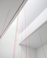 Fred Sandback, Vertical Constructions, 2016, Instillation view. Image courtesy of David Zwirner, New York.