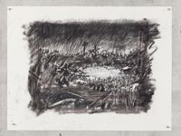 Untitled (Drawing for Wozzeck 65) by William Kentridge contemporary artwork works on paper