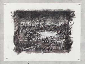 Untitled (Drawing for Wozzeck 65) by William Kentridge contemporary artwork
