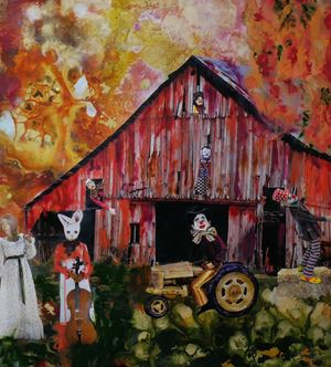 The Barn Dance by Marnie Weber contemporary artwork