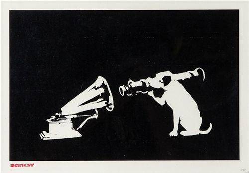 HMV by Banksy contemporary artwork print