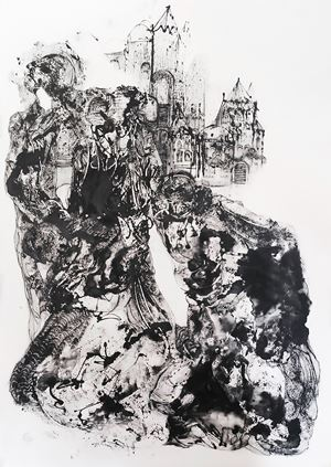 Mourning IV, Paris by Kevork Mourad contemporary artwork painting