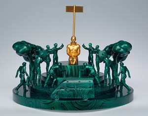 Small Heroic Sculpture #4 (O Cadeado) by Fyodor Pavlov-Andreevich contemporary artwork