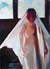 Die uneheliche Braut (The illegitimate bride) by Maria Lassnig contemporary artwork painting