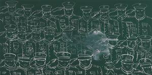 Blackboard (Salutations) by Tala Madani contemporary artwork