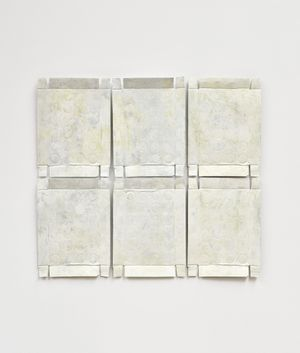 Untitled (Yellow Relief) by Rachel Whiteread contemporary artwork