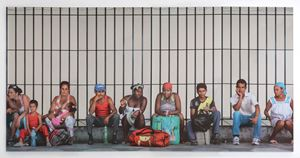 La Habana, persone in attesa by Michelangelo Pistoletto contemporary artwork