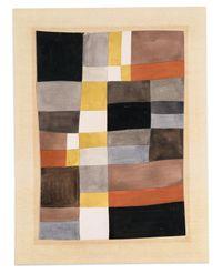 Rythmes verticaux-horizontaux libres (Free, vertical-horizontal rhythms) by Sophie Taeuber-Arp contemporary artwork works on paper