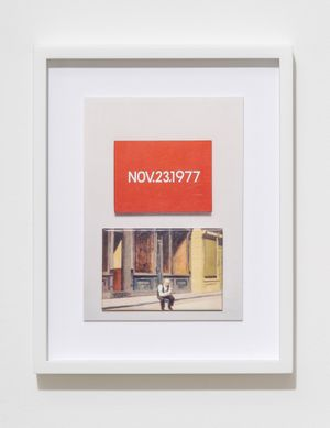 H.D.N.R.I.B.I.R. (On Kawara / Hopper) by Max Frisinger contemporary artwork