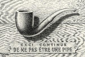 La Trahison des images by René Magritte contemporary artwork