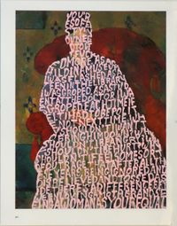 Women Words (Cezanne #1) by Betty Tompkins contemporary artwork mixed media