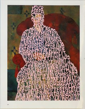 Women Words (Cezanne #1) by Betty Tompkins contemporary artwork