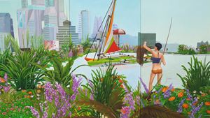 Home Sweet Home: Fishing in Central 3 by Mak Ying Tung 2 contemporary artwork