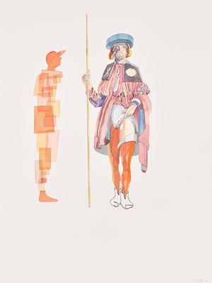 Meeting San Rocco by Clive Van Den Berg contemporary artwork