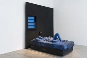 Blue Woman on Bed by George Segal contemporary artwork