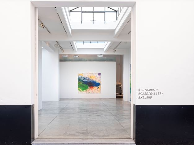 Exhibition view: Shozo Shimamoto, Cardi Gallery, Milan (19 February–18 December 2020). Courtesy Cardi Gallery.