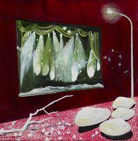 Bones and stars by Huhana Smith contemporary artwork painting
