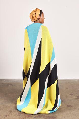 Samson Kambalu,Hand Written(2019). 100% cotton blankets. Courtesy Goodman Gallery.