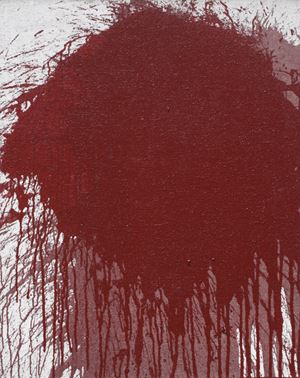 Ohne Titel (Schüttbild) by Hermann Nitsch contemporary artwork