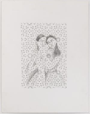 Embrace by Shahzia Sikander contemporary artwork