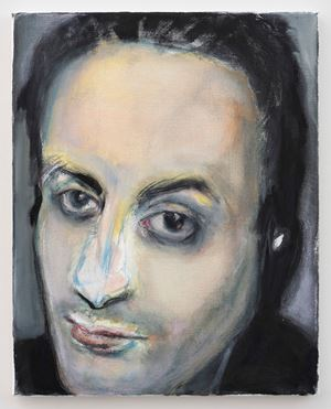 Hafid Bouazza by Marlene Dumas contemporary artwork painting, works on paper