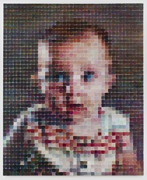 Baby Jane by Chuck Close contemporary artwork painting