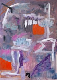 Teeth in the Mouth by Stella Corkery contemporary artwork painting, works on paper